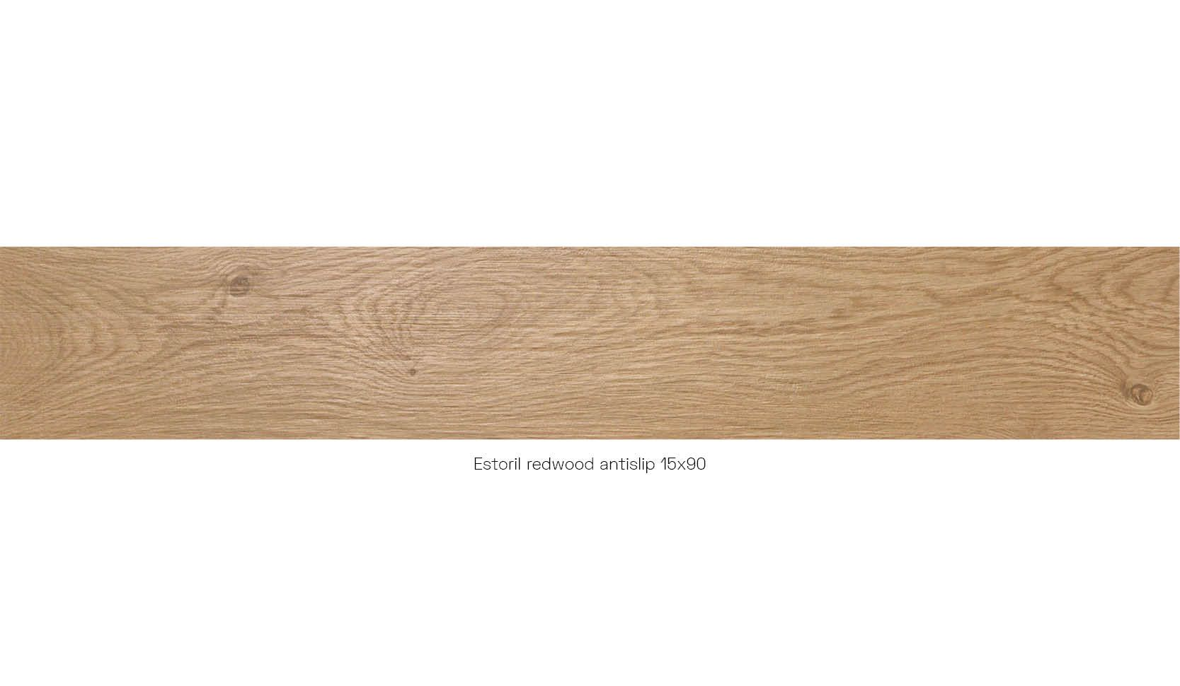 Estoril redwood antislip15 x 90