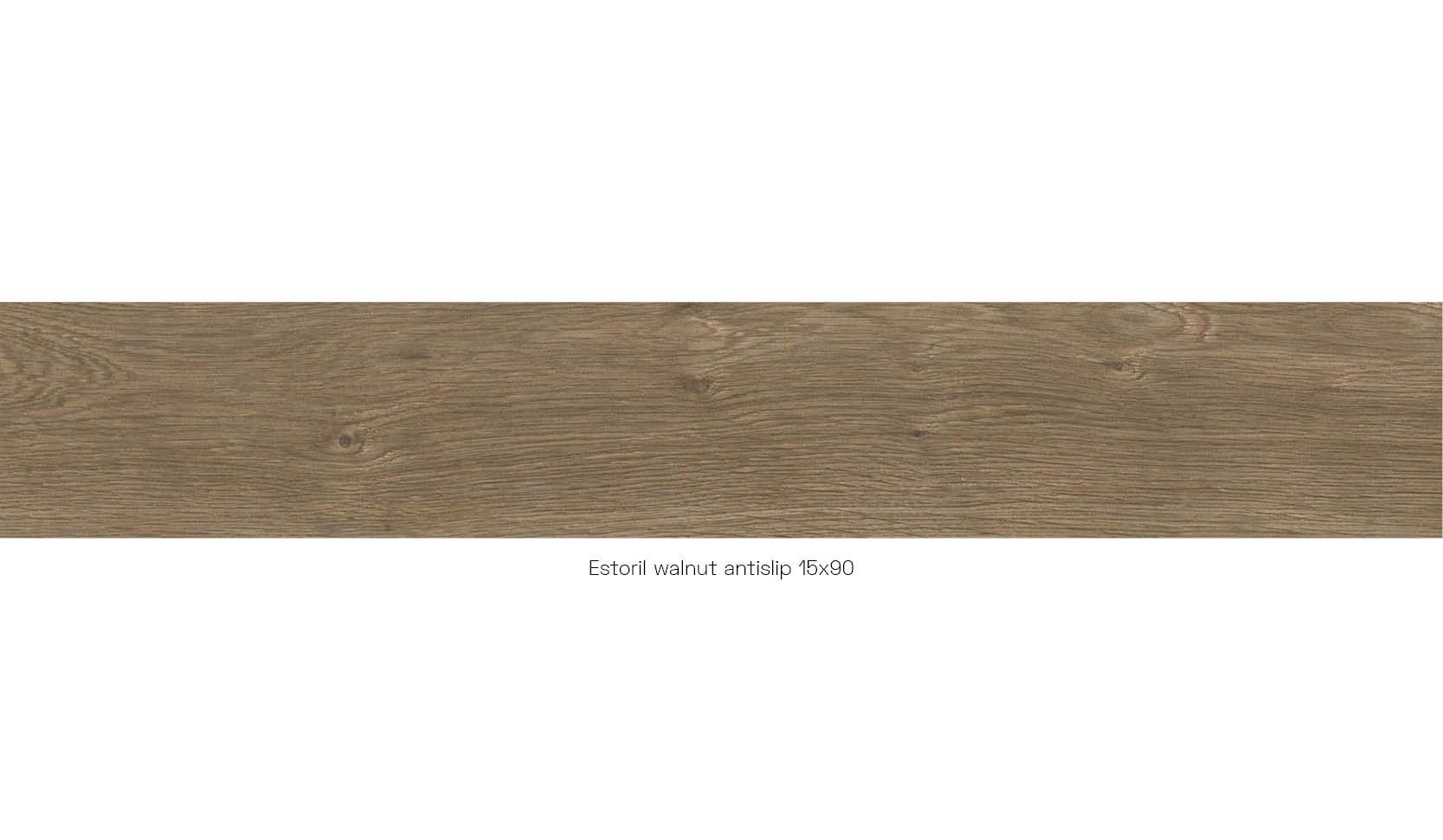 Estoril walnut antislip 15 x 90