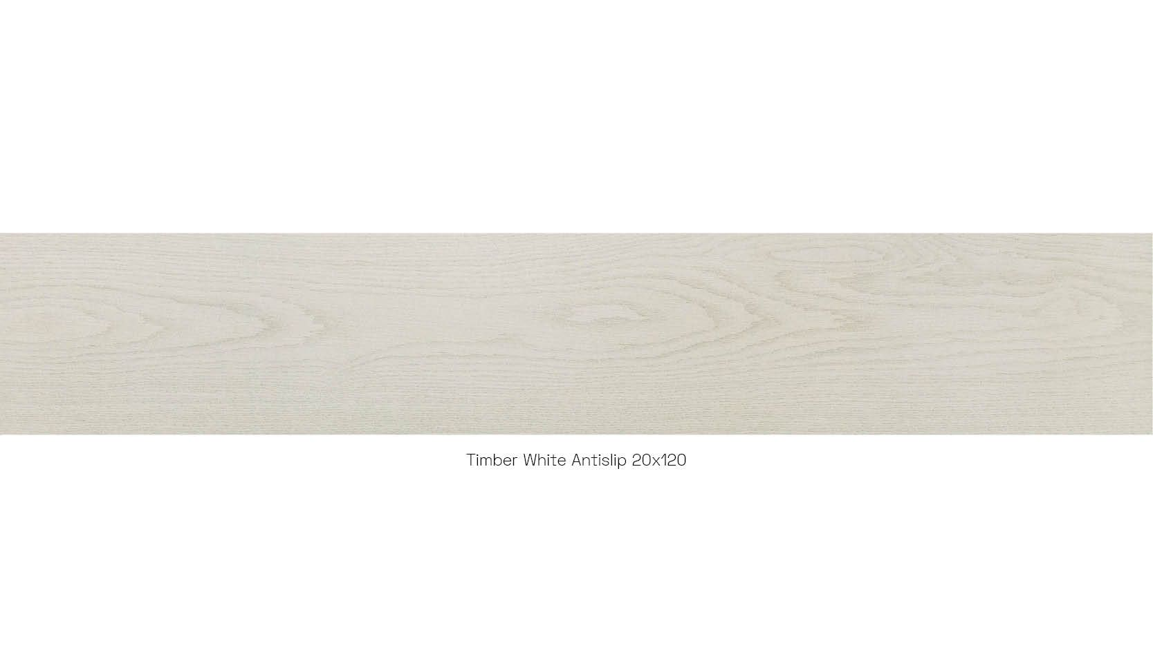 Timber white antislip 20 x 120