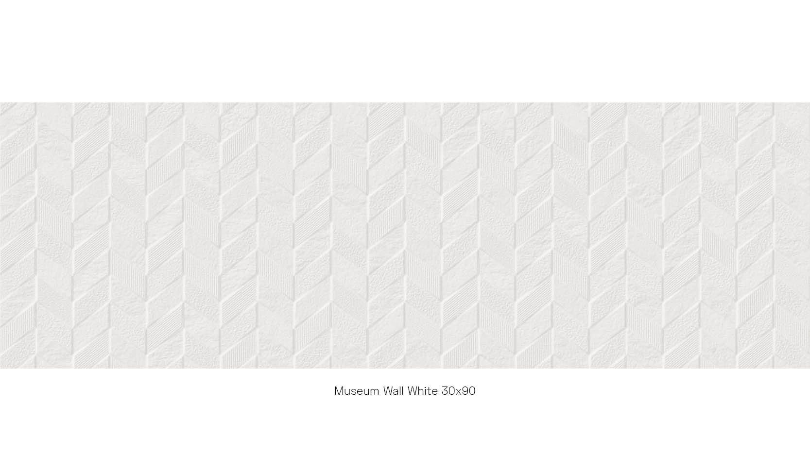 Museum Wall White 30 x 90