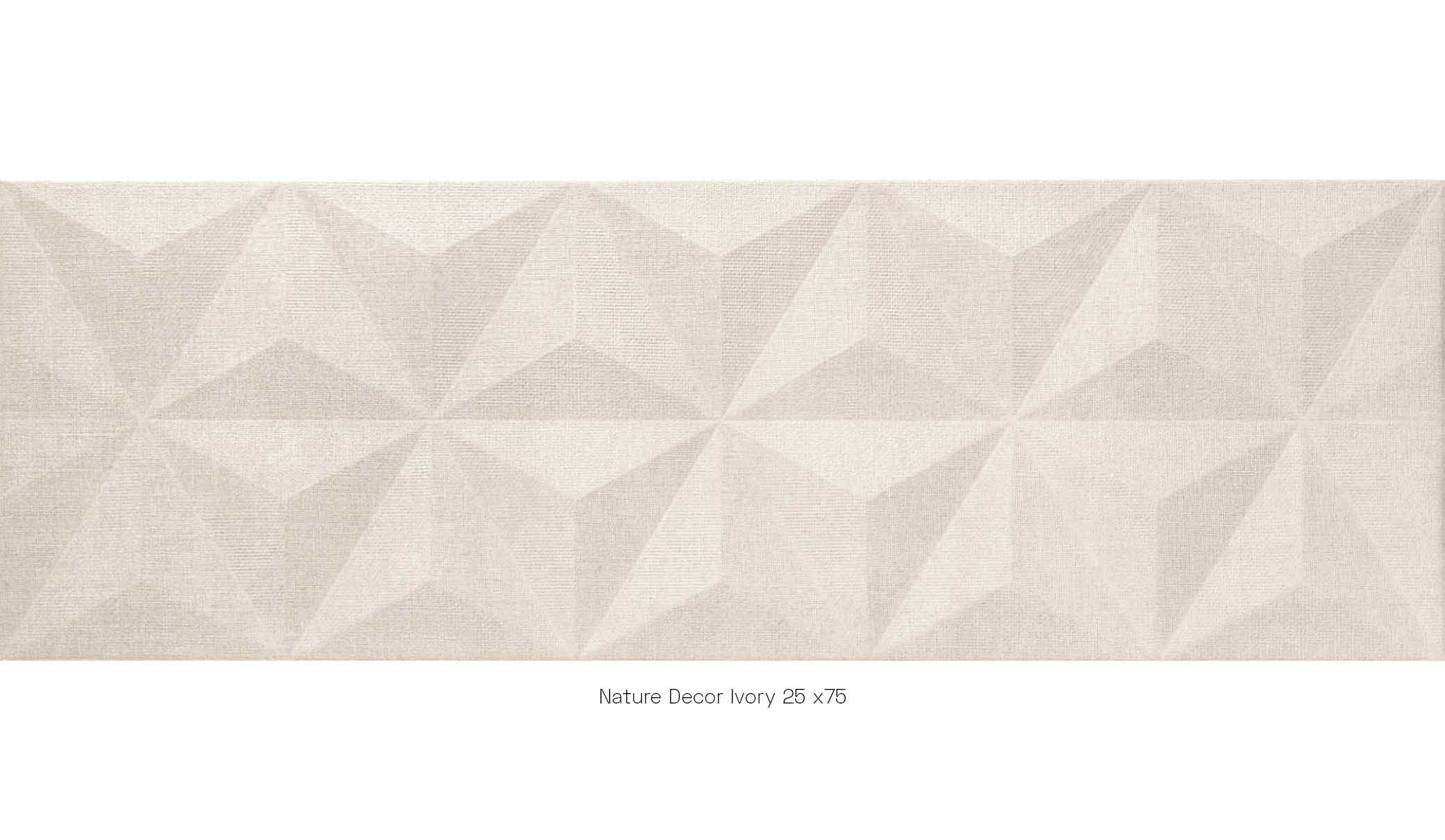 Nature decor ivory 25x75
