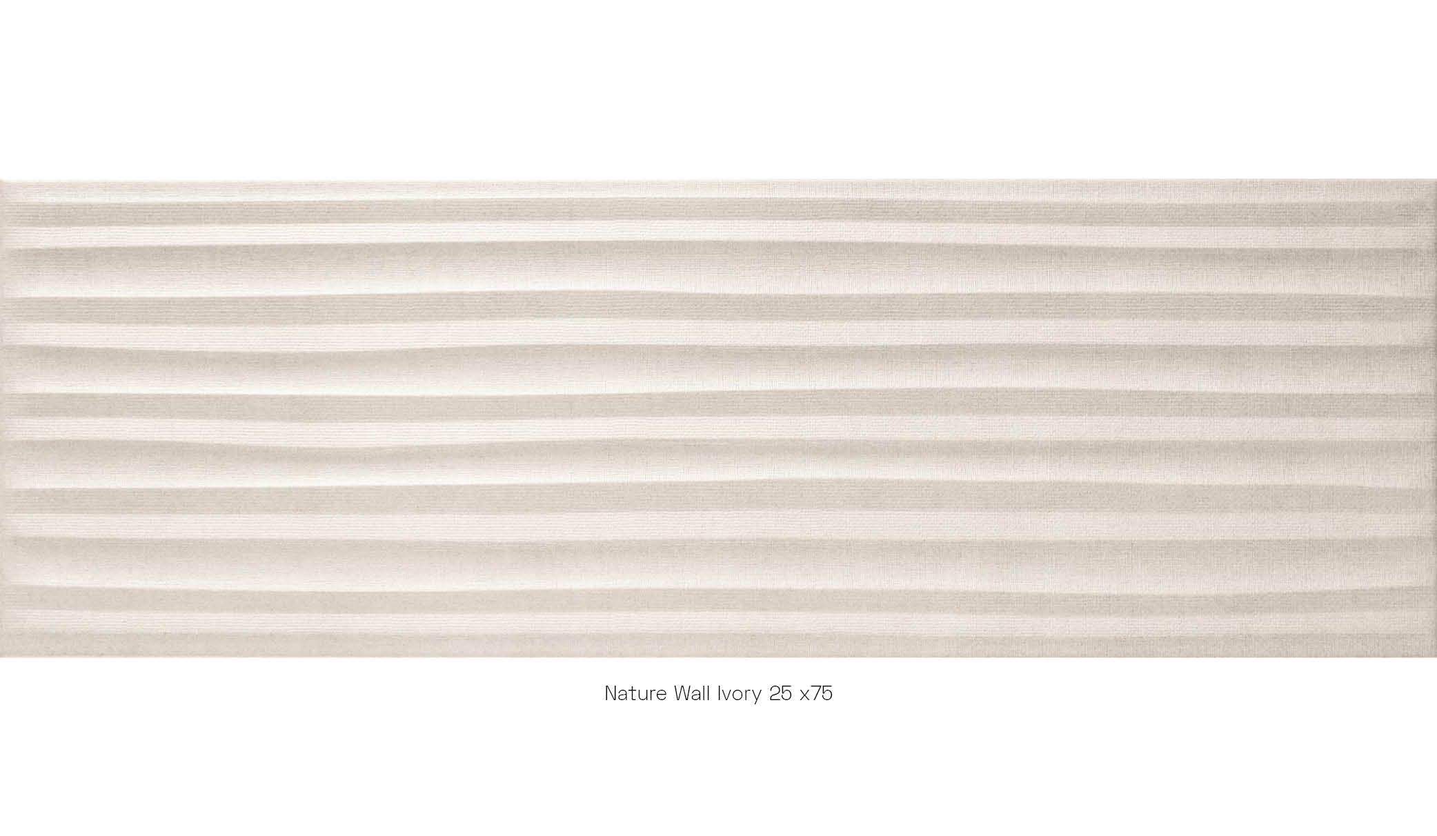 Nature wall ivory 25x75