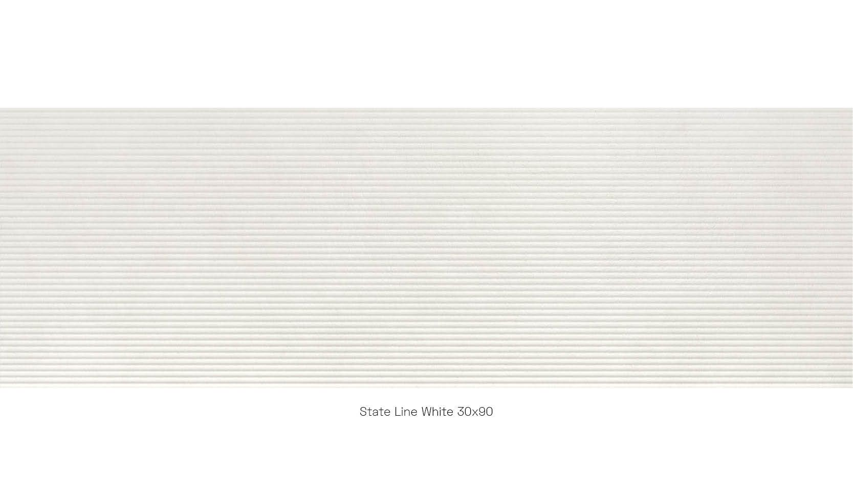 State Line White 30 x 90