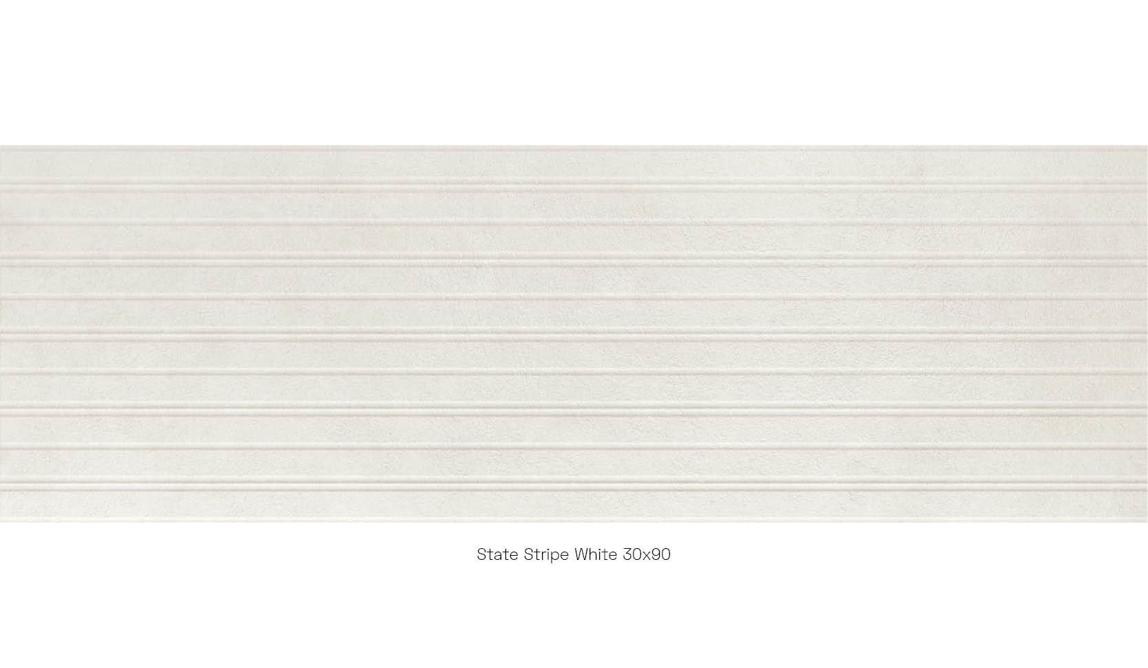 State Stripe White 30 x 90